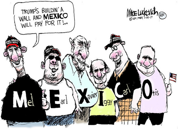RealClearPolitics - Mike Luckovich - 01/29/2017 - Political Cartoons