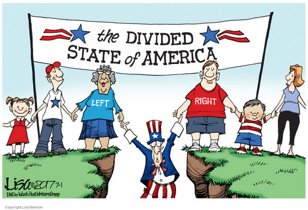 Image result for divided over politics cartoon
