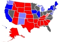 RCP Map on 9/28/2008