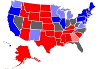 RCP Map on 10/12/2008