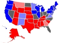 RCP Map on 10/19/2008