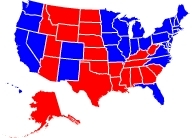 RCP Map on 10/26/2008