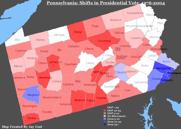 RealClearPolitics  HorseRaceBlog  Shifting Sands Of PA