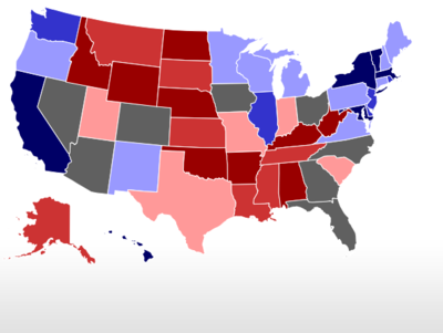 RealClearPolitics Election Maps Race Changes - Us map of electoral college 2016