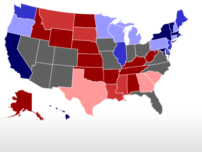 RealClearPolitics Election Iowa Republican Presidential - 530 us states map polls