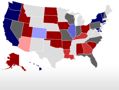 RealClearPolitics Election - Us congress election map