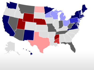 Map Of Us Senators.Realclearpolitics Election 2020 2020 Democratic Presidential