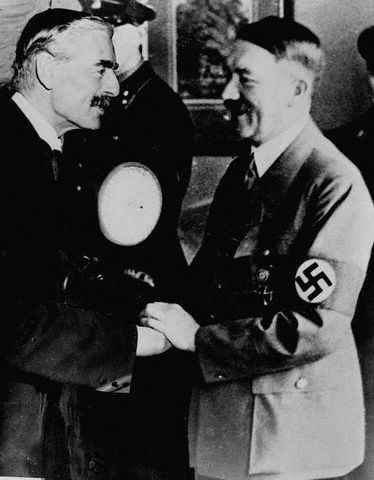 chamberlains and churchills opinions on adolf hitler Chamberlain's secret bid to reach a deal with hitler recently released documents show neville chamberlain (left) tried to reach a deal with adolf hitler winston churchill's daughter lady mary soames gives a vivid account of london.