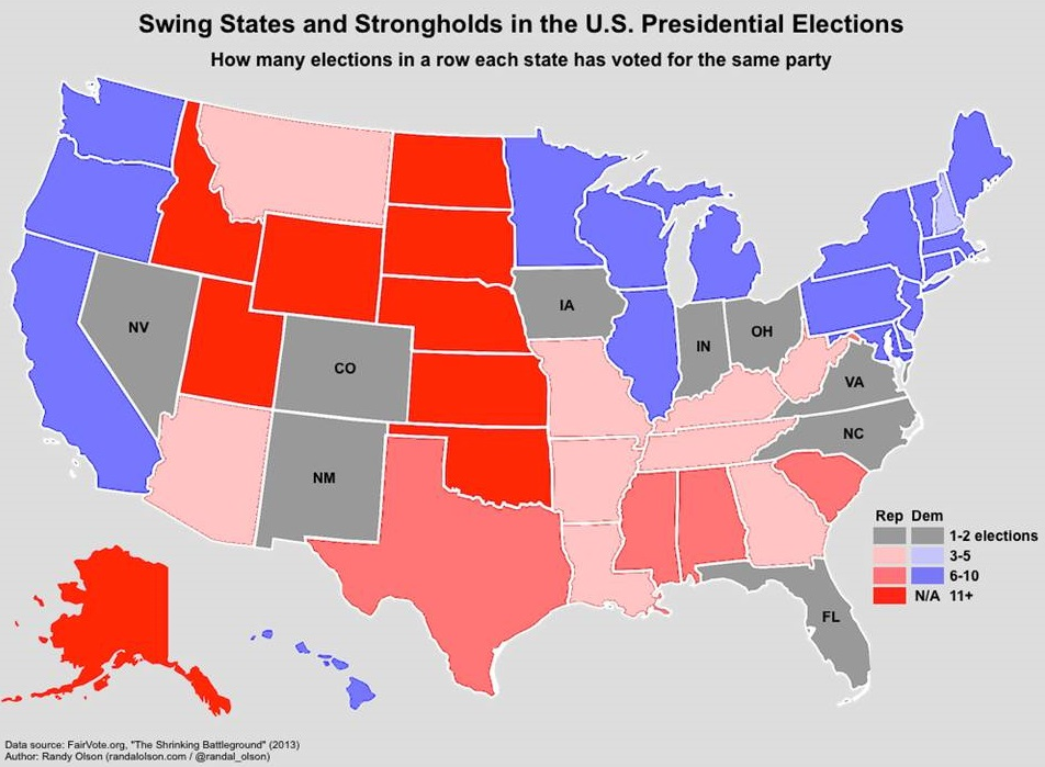 Are Swing States Disappearing? | RealClearPolitics