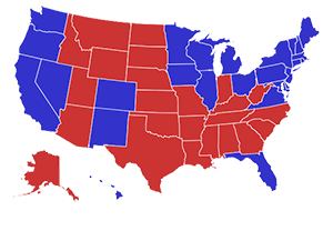 RealClearPolitics Election General Election Romney Vs Obama - Us map of presidential polls