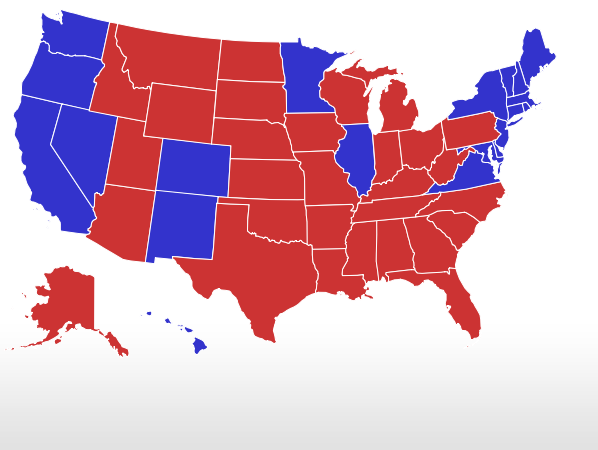 Election Live Results President - What does the us map political 2016