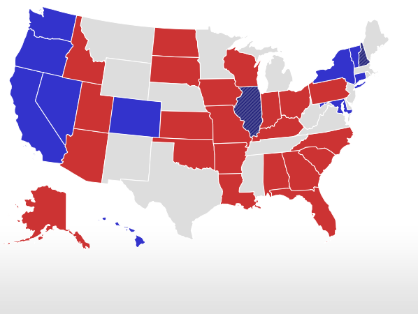 Election Live Results Senate Map - Us elections live results map